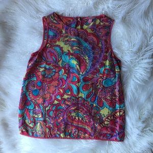 Lilly Pulitzer Button Tank Top Blouse Iona Shell